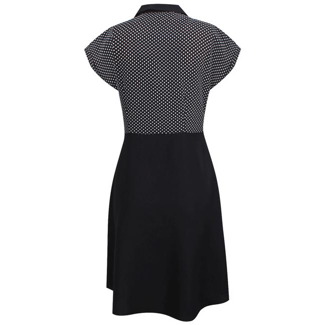 Đầm không tay xòe chấm bi - 15-0026