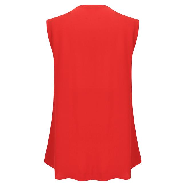 Áo kiểu không tay bèo màu đỏ #63 - 15-0274