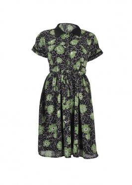 Đầm sơ mi cột nơ eo #4