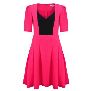 Đầm tay lửng màu hồng dâu - 15-0111