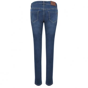 Quần jean nữ form rộng màu xanh #154 - 15-0294