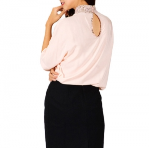 Áo kiểu nữ cổ cách điệu-Ao-14-0326