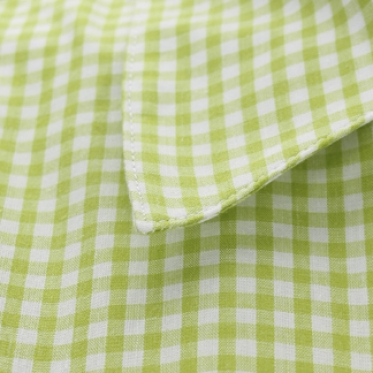 Áo sơ mi nữ sọc caro xanh lá - 130243-SDL3051
