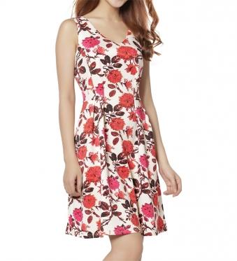 Đầm xòe họa tiết không tay-dam-14-0328