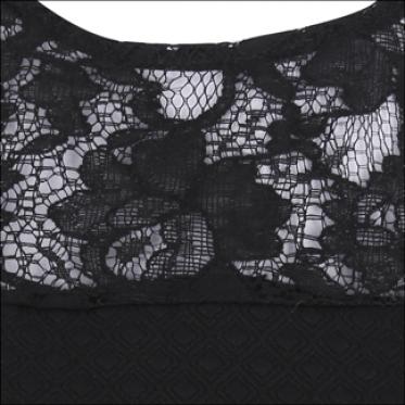 Đầm nữ không tay phối ren trơn - 16-0048-4