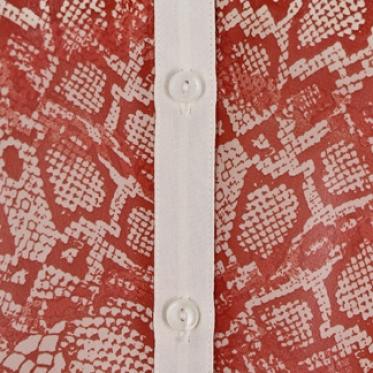 Áo kiểu sườn đổ bo lai màu cam - 130186-SDL3041