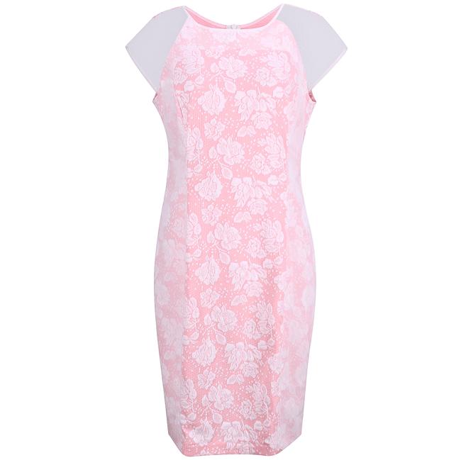 Đầm tay con phối lười màu hồng - 15-0153