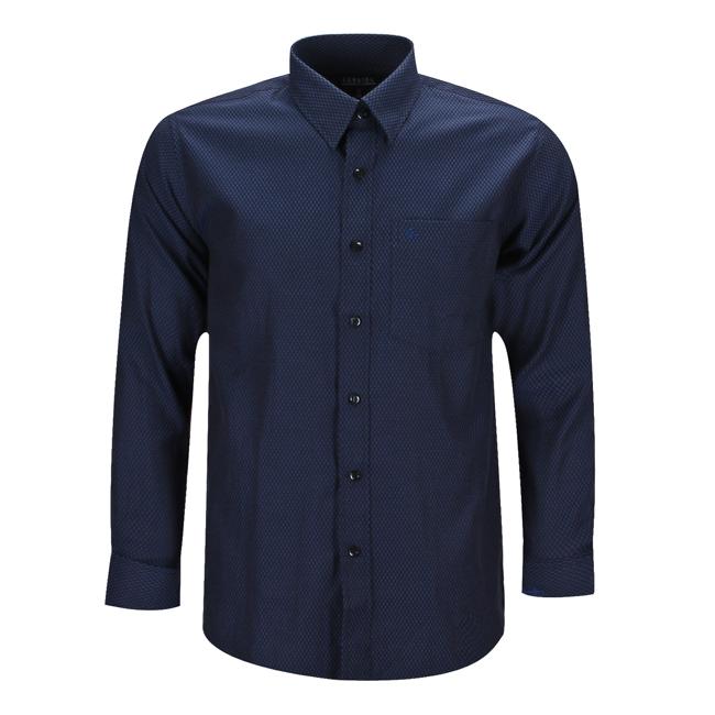 Áo sơmi nam sọc caro nhuyễn màu xanh navy - 130228-SDM3010