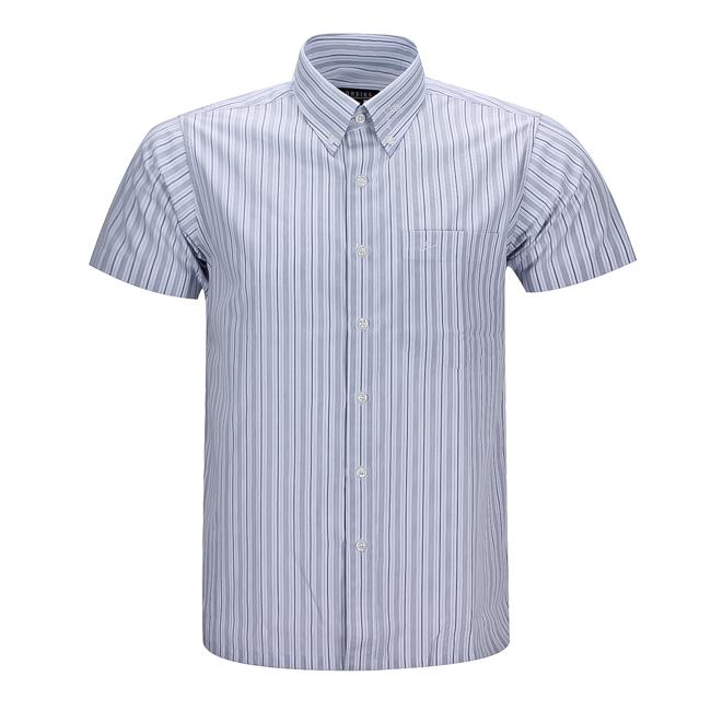 Áo sơmi nam ngắn tay sọc xanh xám - 130257-SDM3014